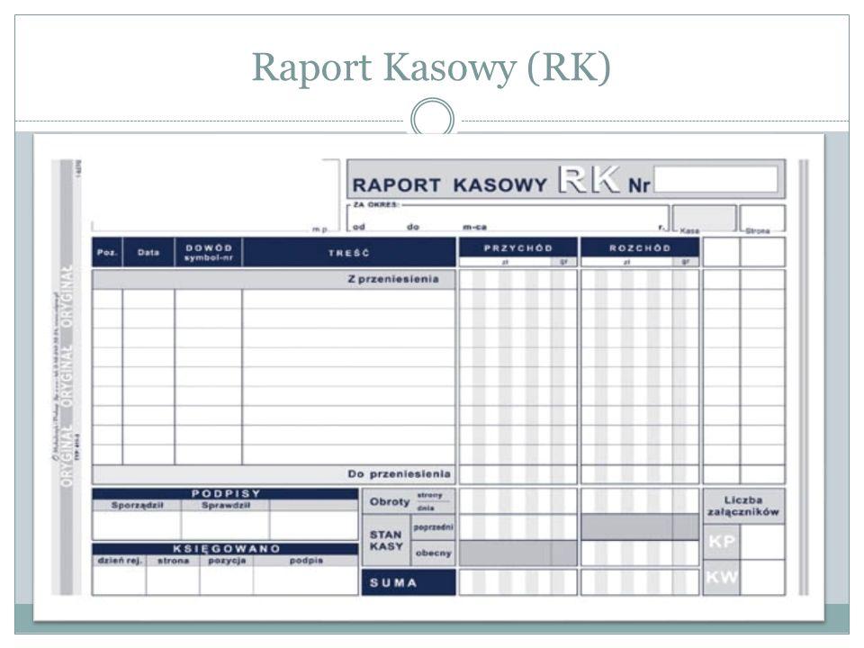 Raport Kasowy (RK)
