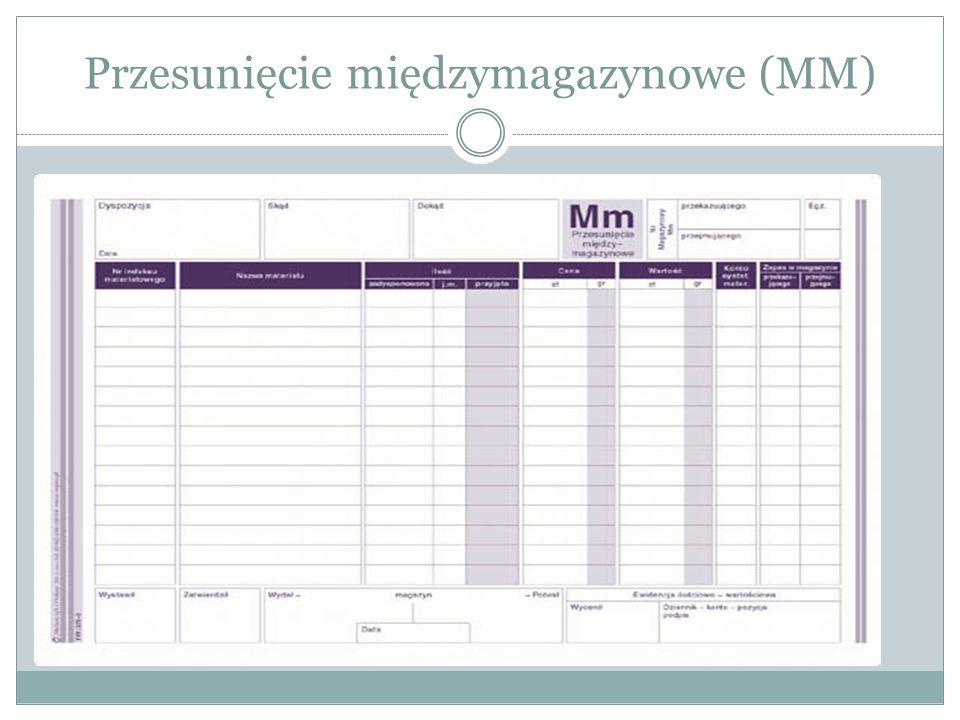 Przesunięcie międzymagazynowe (MM)