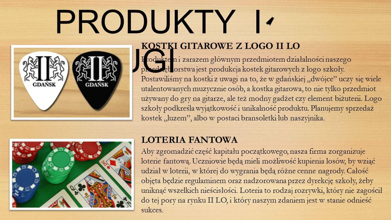 PRODUKTY I USLUGI KOSTKI GITAROWE Z LOGO II LO Produktem i zarazem głównym przedmiotem działalności naszego przedsiębiorstwa jest produkcja kostek gitarowych z logo szkoły.