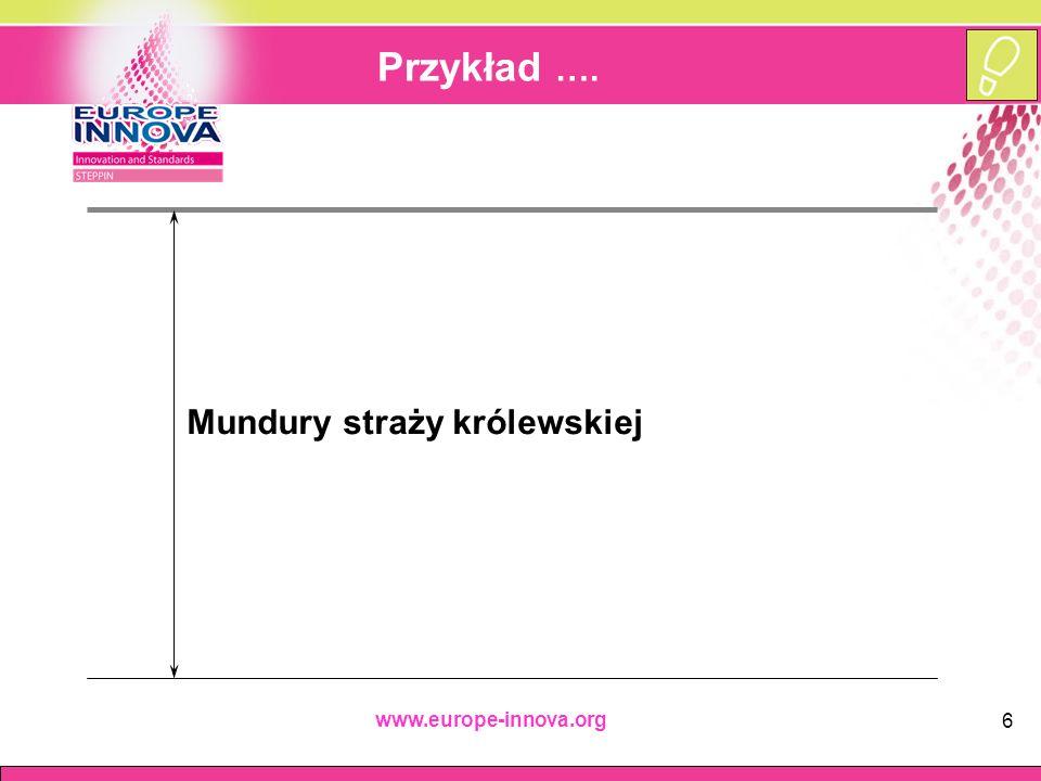 www.europe-innova.org 6 Przykład …. Mundury straży królewskiej