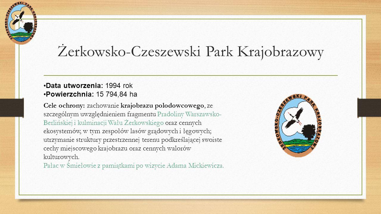 Park Krajobrazowy Promno Data utworzenia: 1993 rok Powierzchnia: 3363,86 ha najmniejszy park, leżący w całości na terenie Naszego województwa Powierzchnia otuliny: 2379,68 ha Cele ochrony: zachowanie urozmaiconego krajobrazu polodowcowego o bogatej rzeźbie terenu, z wodami płynącymi i stosunkowo niewielkimi powierzchniowo zbiornikami wodnymi oraz dobrze wykształconych zbiorowisk leśnych (zwłaszcza lasów grądowych), torfowiskowych i wodno-błotnych, zasiedlanych przez liczne gatunki roślin, zwierząt i grzybów
