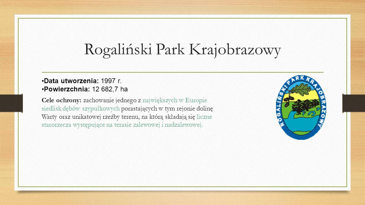 Rogaliński Park Krajobrazowy Data utworzenia: 1997 r.