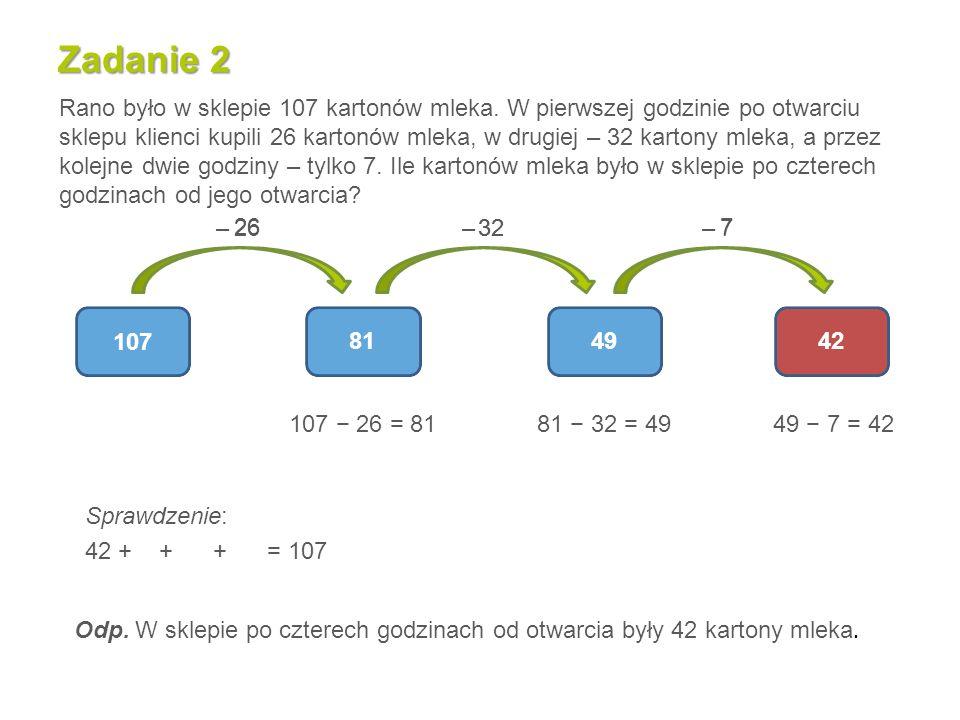 Zadanie 1 (karta pracy 2) Paweł ma dwa razy więcej kart z piłkarzami niż Witek, a Witek zebrał o 7 kart mniej niż Radek, który ma 53 karty.