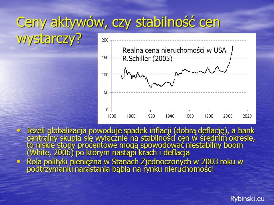 Rybinski.eu Ceny aktywów, czy stabilność cen wystarczy.
