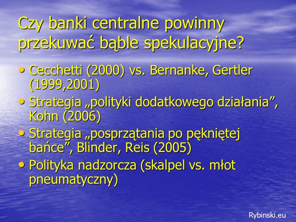 Rybinski.eu Czy banki centralne powinny przekuwać bąble spekulacyjne.