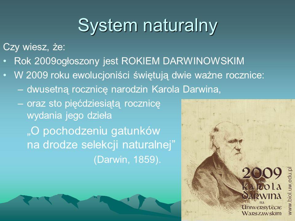 Czy wiesz, że: Rok 2009ogłoszony jest ROKIEM DARWINOWSKIM W 2009 roku ewolucjoniści świętują dwie ważne rocznice: –dwusetną rocznicę narodzin Karola D