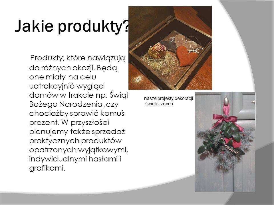 Jakie produkty? Produkty, które nawiązują do różnych okazji. Będą one miały na celu uatrakcyjnić wygląd domów w trakcie np. Świąt Bożego Narodzenia,cz