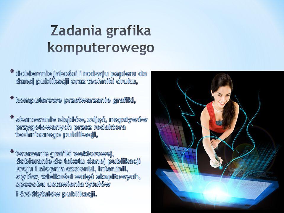 Grafika komputerowa jest we współczesnym świecie narzędziem powszechnie stosowanym w nauce, technice i rozrywce.