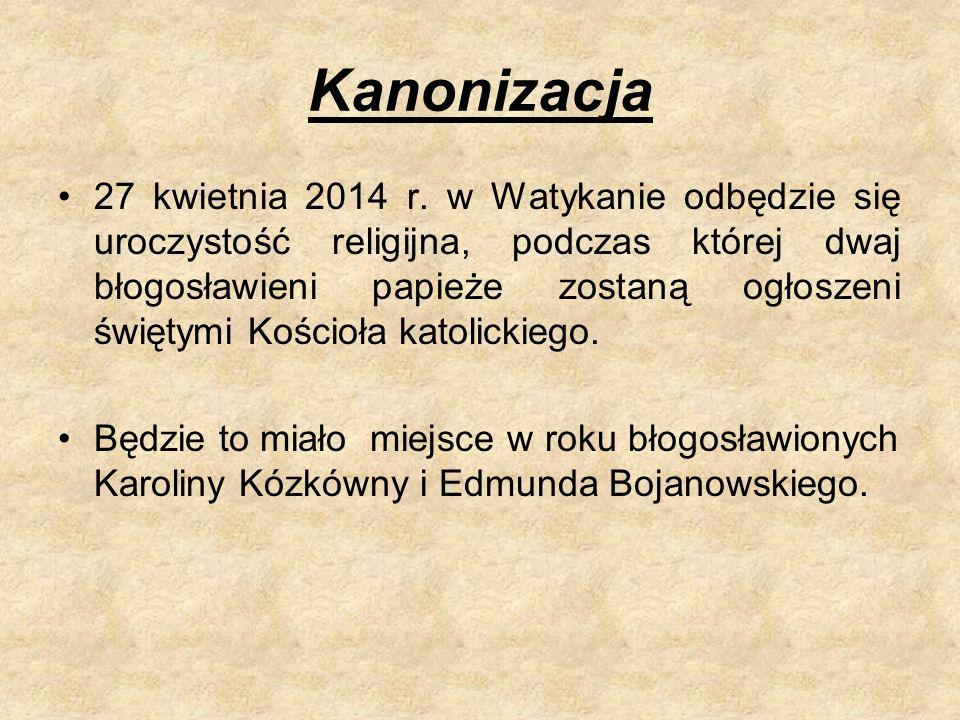 Kanonizacja 27 kwietnia 2014 r.