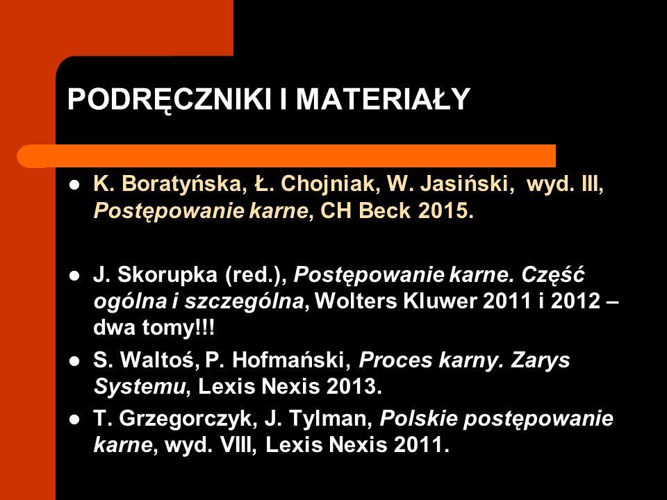 PODRĘCZNIKI I MATERIAŁY K. Boratyńska, Ł. Chojniak, W.