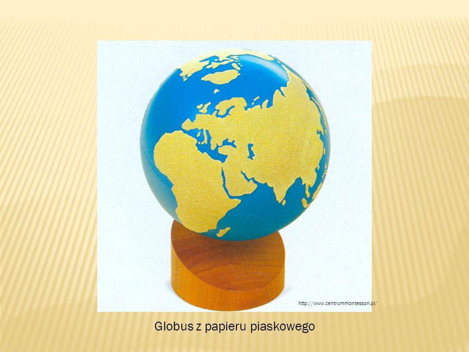 Globus z papieru piaskowego http://www.centrummontessori.pl/