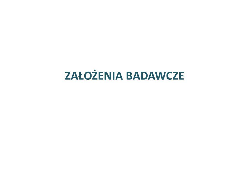  Badanie zrealizowano na próbie 800 dorosłych mieszkańców Rzeszowa wylosowanej z bazy ewidencji ludności dostarczonej przez Urząd Miasta Rzeszowa  Zastosowano dobór losowy systematyczny z ukrytym podziałem na warstwy (warstwowano ze względu na osiedle, płeć i wiek)  Błąd oszacowania wynosi ok.