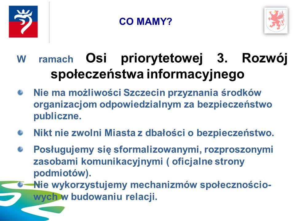 Szczecin zbuduje PORTAL O BEZPIECZEŃSTWIE, projekt będzie aplikować do listy indykatywnej z 3.2 – usługi… Policja zapewni współpracę i opracuje materiały merytoryczne.