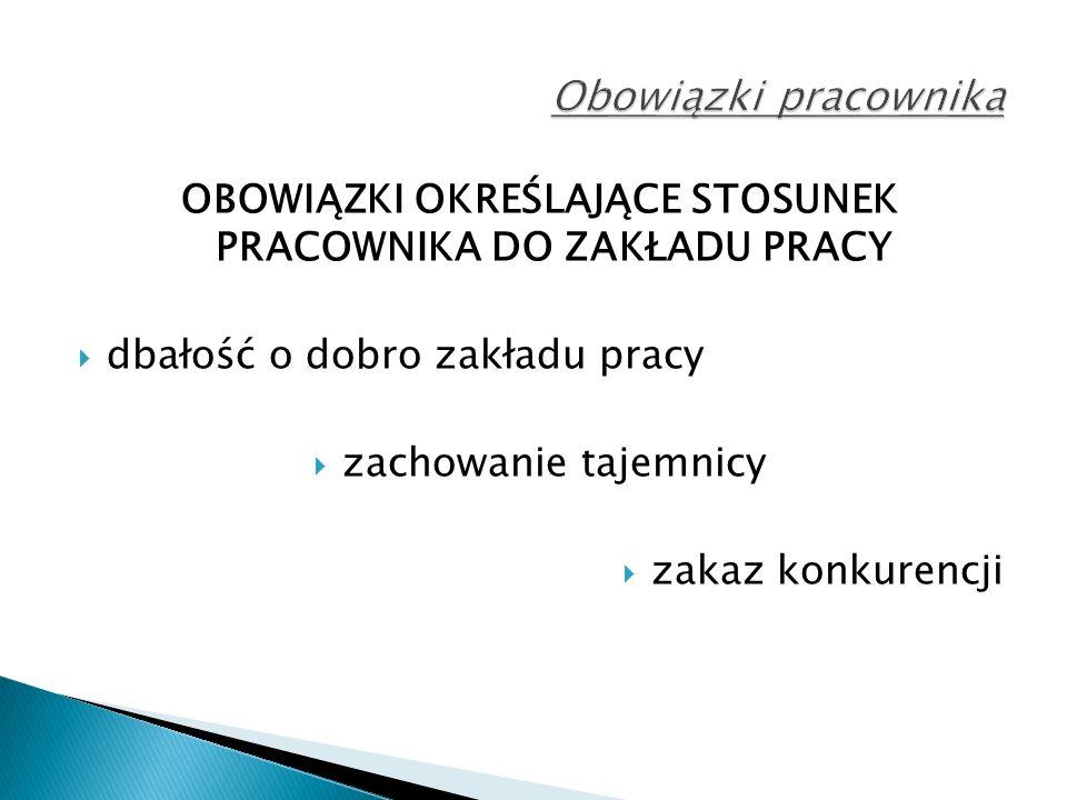 OBOWIĄZEK ZACHOWANIA TAJEMNICY Tajemnica pracodawcy (Art.