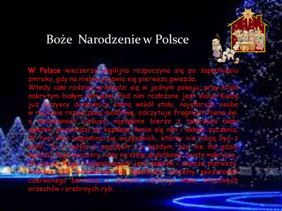 Włochy We Włoszech przed Wigilią obowiązuje ścisły post, a święta rozpoczynają się 24 grudnia uroczystą wieczerzą.