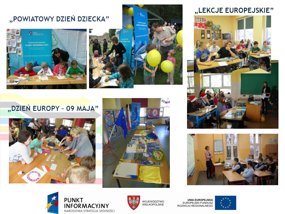 """""""POWIATOWY DZIEŃ DZIECKA """"DZIEŃ EUROPY – 09 MAJA """"LEKCJE EUROPEJSKIE"""