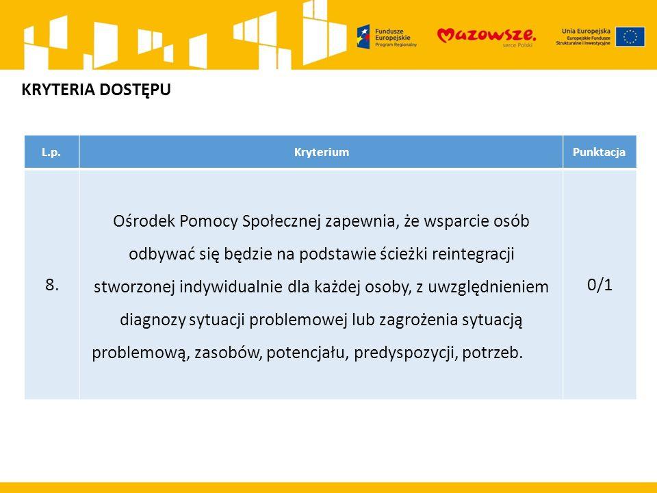 L.p.KryteriumPunktacja 8.