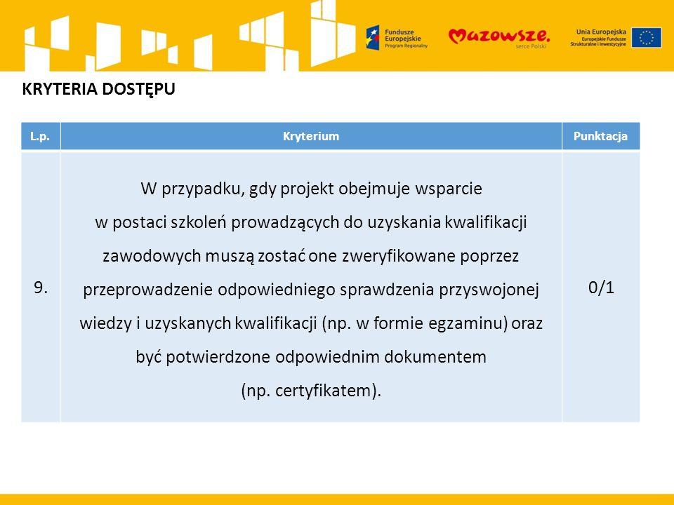 L.p.KryteriumPunktacja 9.