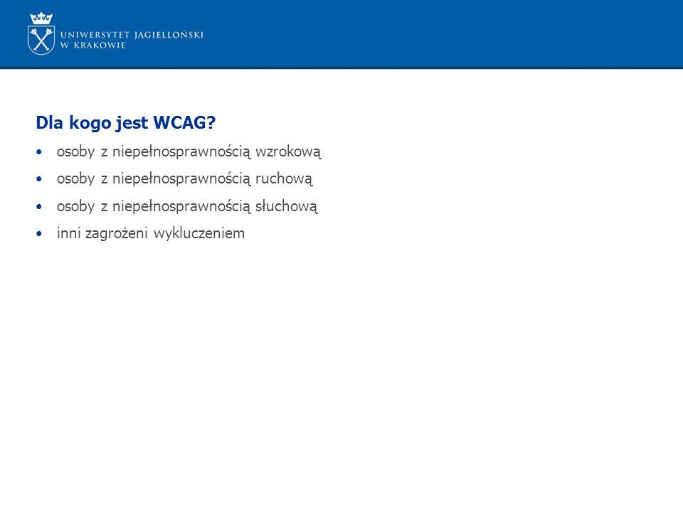 Dla kogo jest WCAG.