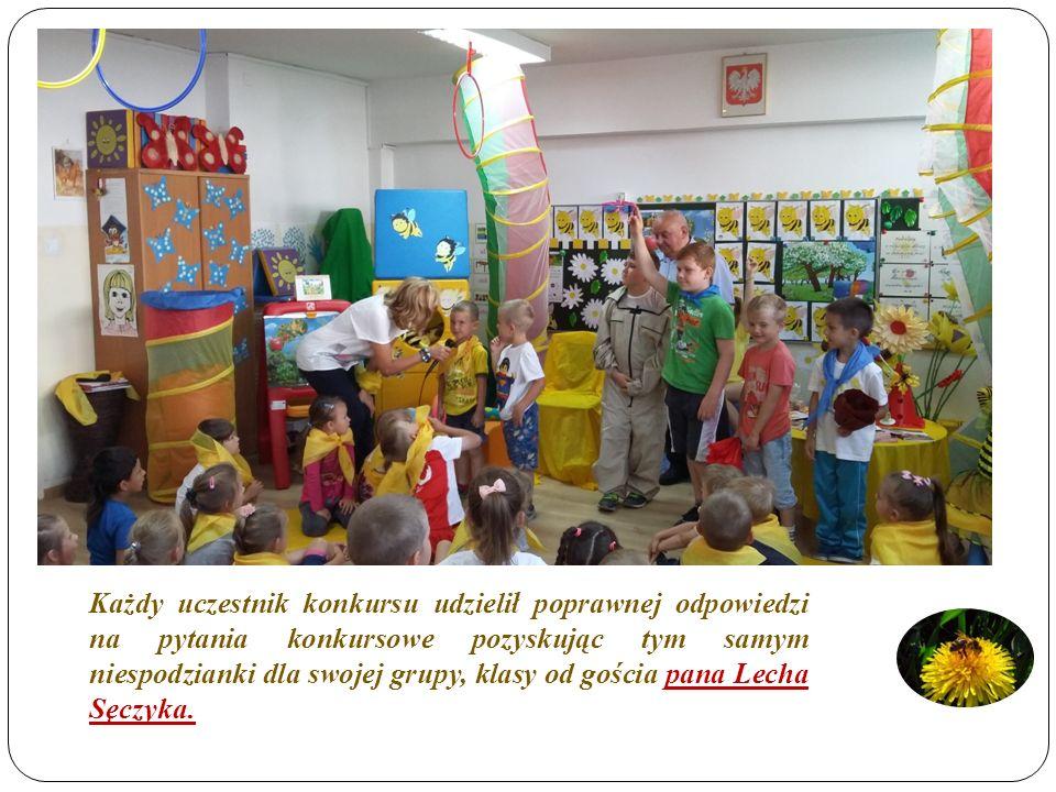 Każdy uczestnik konkursu udzielił poprawnej odpowiedzi na pytania konkursowe pozyskując tym samym niespodzianki dla swojej grupy, klasy od gościa pana Lecha Sęczyka.