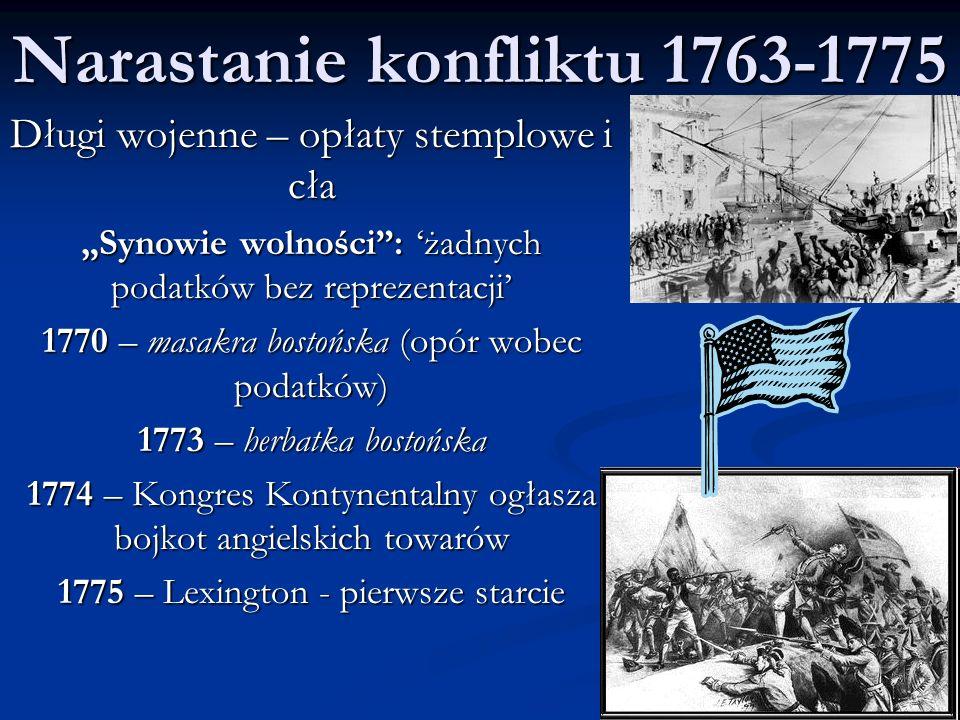 """Deklaracja Niepodległości 04.07.1776 """"Dlatego my, przedstawiciele Stanów Zjednoczonych Ameryki zebrani na Kongresie Ogólnym, odwołując się do Najwyższego Sędziego Świata, uroczyście ogłaszamy i oświadczamy w imieniu wszystkich ludzi dobrej woli tych Kolonii, że połączone Kolonie są i mają słuszne prawo być wolnymi i niepodległymi państwami; że zwolnione są one z wszelkich zobowiązań w stosunku do Korony Brytyjskiej i że wszelkie powiązania polityczne między nami a państwem Wielkiej Brytanii są i powinny być całkowicie zniesione, oraz że jako wolne i niepodległe kraje mają one pełne prawo wypowiadania wojny, zawierania pokoju, wstępowania w sojusze, nawiązywania stosunków handlowych i czynienia wszystkiego, do czego mają prawo państwa niezależne."""