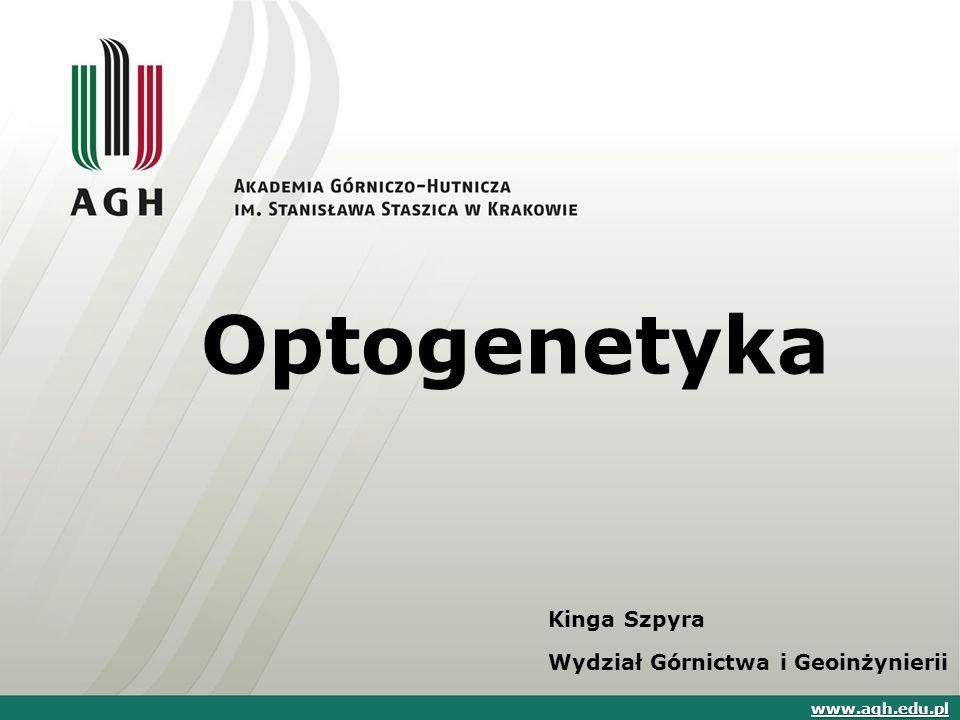 Optogenetyka Kinga Szpyra Wydział Górnictwa i Geoinżynierii www.agh.edu.pl