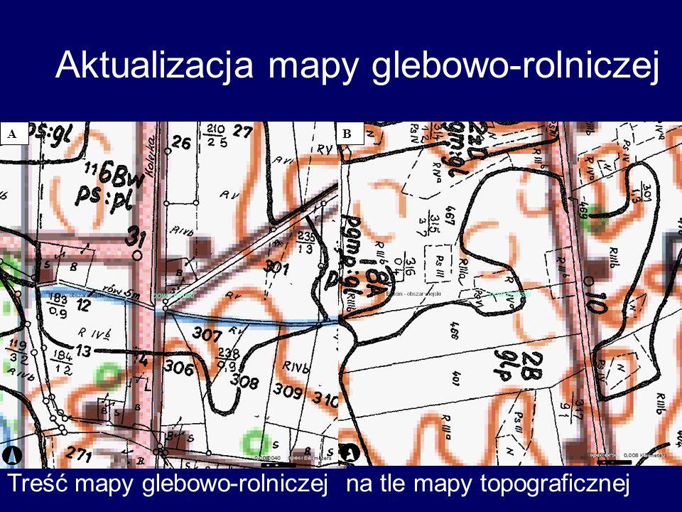 Aktualizacja mapy glebowo-rolniczej AB Treść mapy glebowo-rolniczej na tle mapy topograficznej