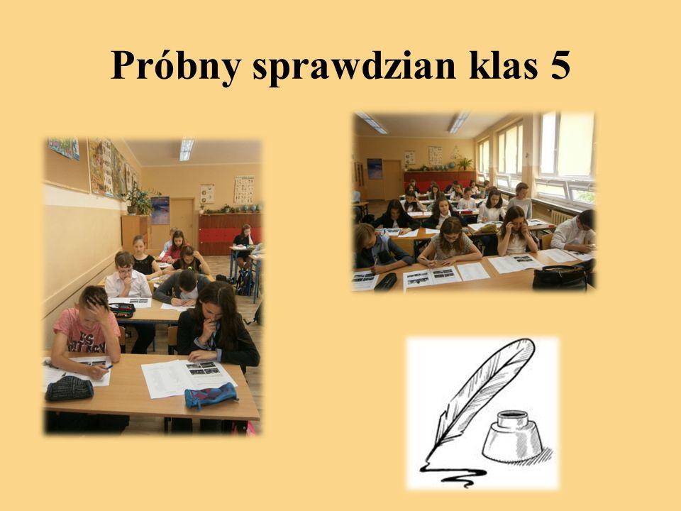 Próbny sprawdzian klas 5