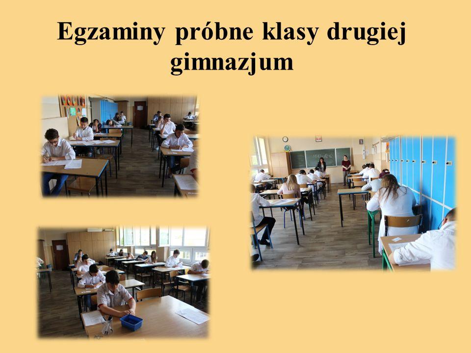 Egzaminy próbne klasy drugiej gimnazjum