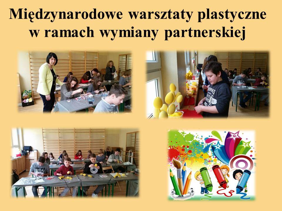 Międzynarodowe warsztaty plastyczne w ramach wymiany partnerskiej