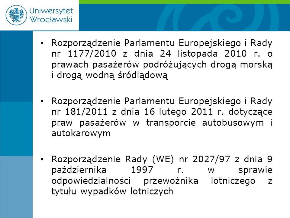 Rozporządzenie Parlamentu Europejskiego i Rady nr 1177/2010 z dnia 24 listopada 2010 r.