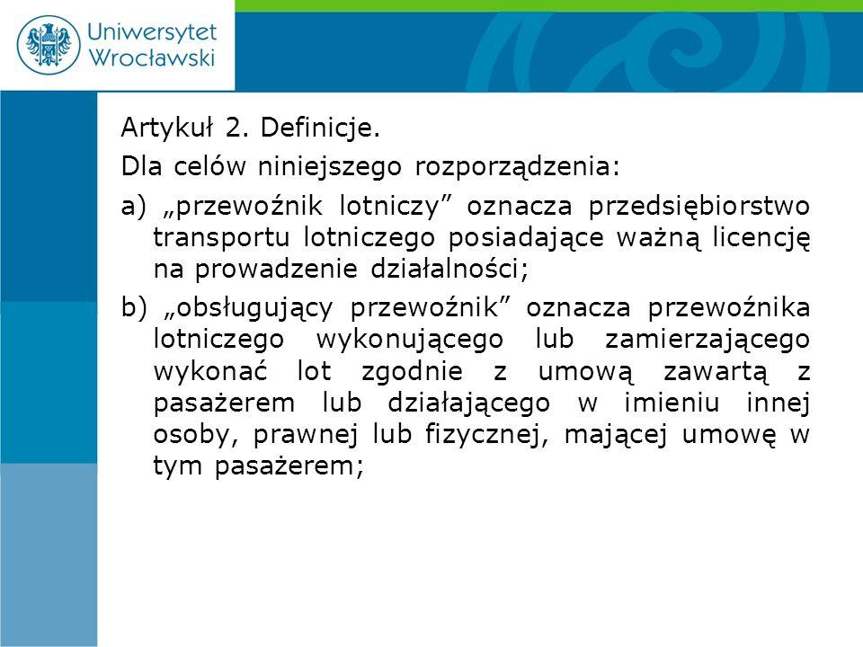 Artykuł 2. Definicje.
