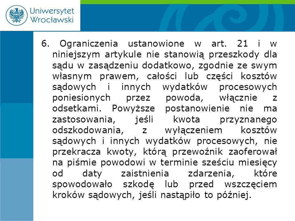 6. Ograniczenia ustanowione w art.