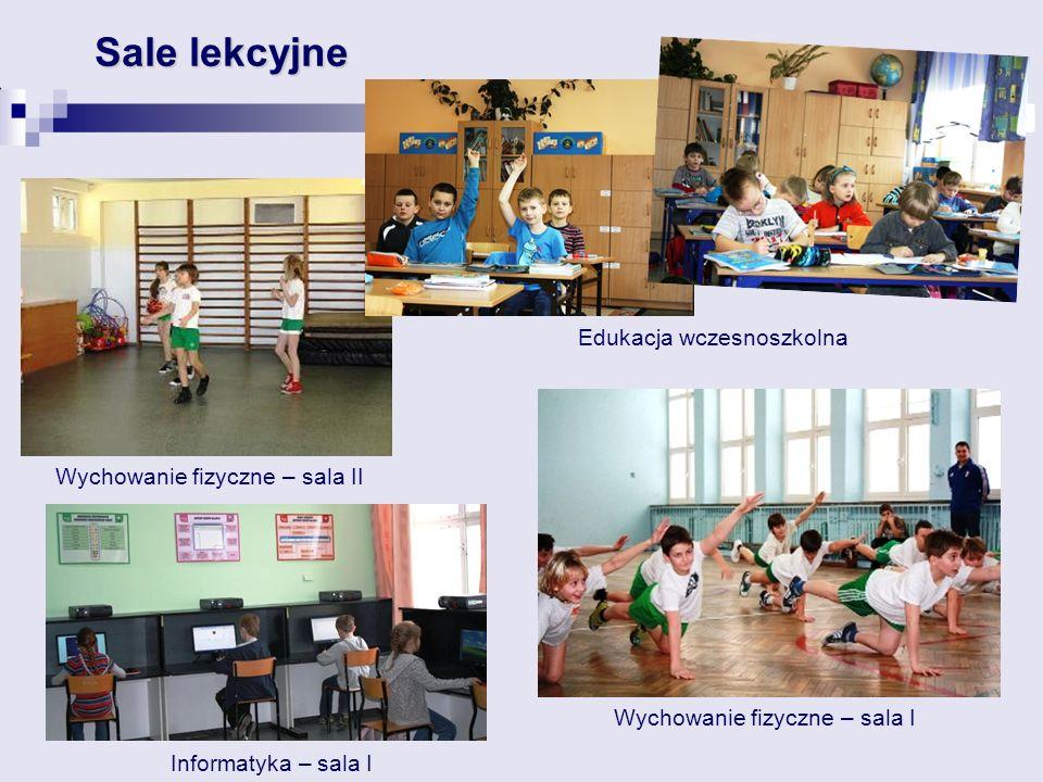 Wychowanie fizyczne – sala II Sale lekcyjne Edukacja wczesnoszkolna Informatyka – sala I Wychowanie fizyczne – sala I