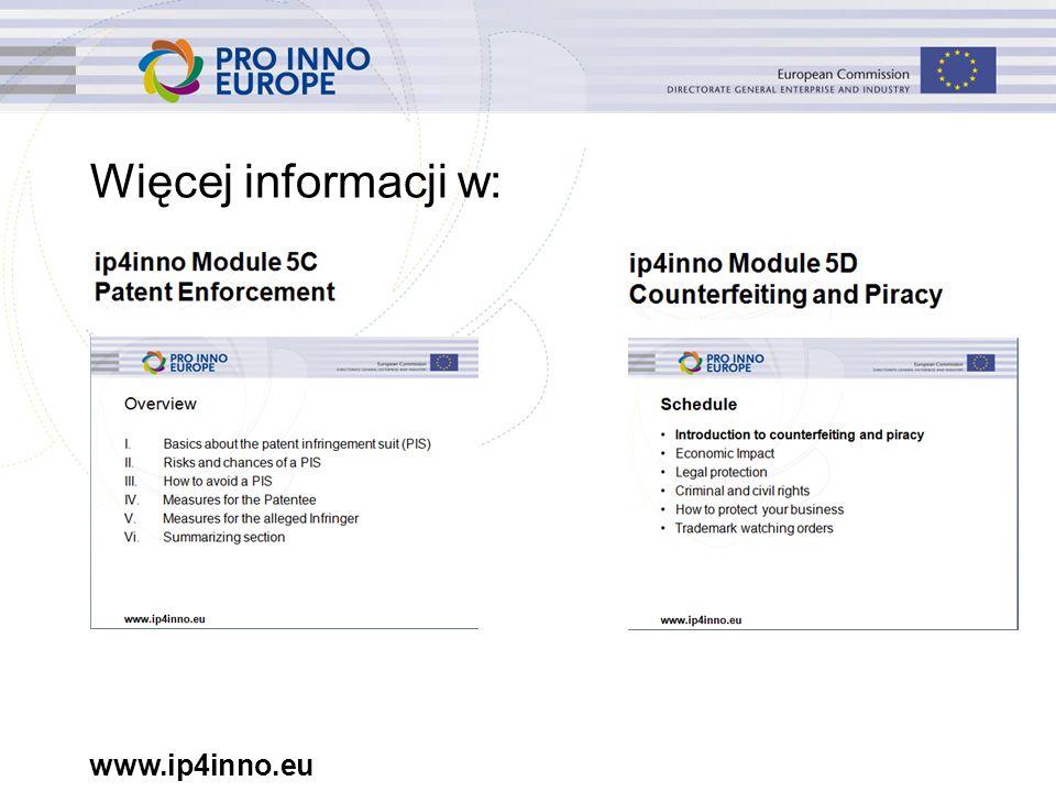 www.ip4inno.eu Więcej informacji w: