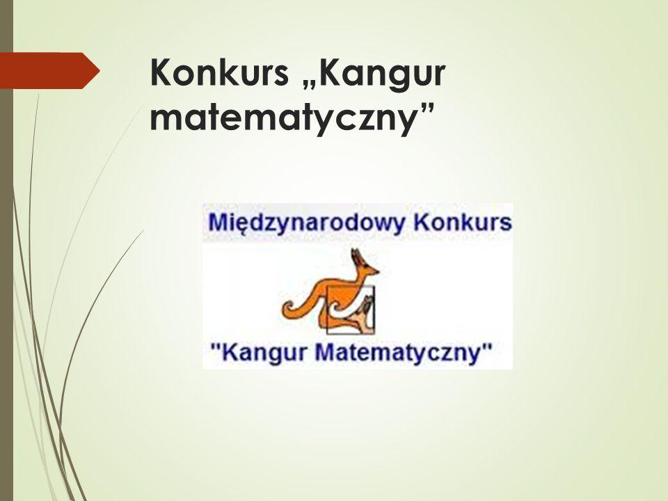 "Konkurs ""Kangur matematyczny"