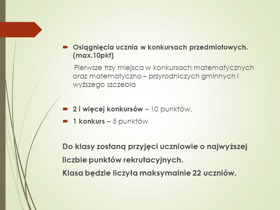 Wniosek rekrutacyjny  Wniosek znajduje się na stronie gimnazjum  http://www.gimnazjum.siechnice.com.pl http://www.gimnazjum.siechnice.com.pl  We wniosku, przy wyborze szkoły należy dopisać: klasa matematyczno- informatyczna w Świętej Katarzynie