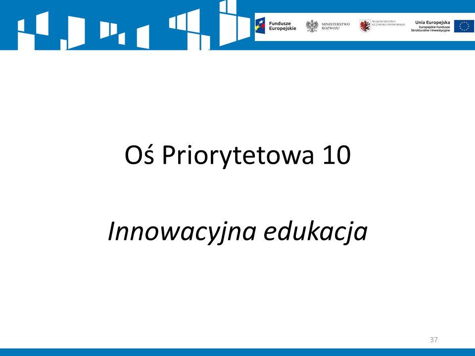 Oś Priorytetowa 10 Innowacyjna edukacja 37