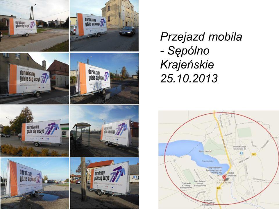 Atrakcyjna, spójna reklama i informacja Nasz patent to: Przejazd mobila - Sępólno Krajeńskie 25.10.2013