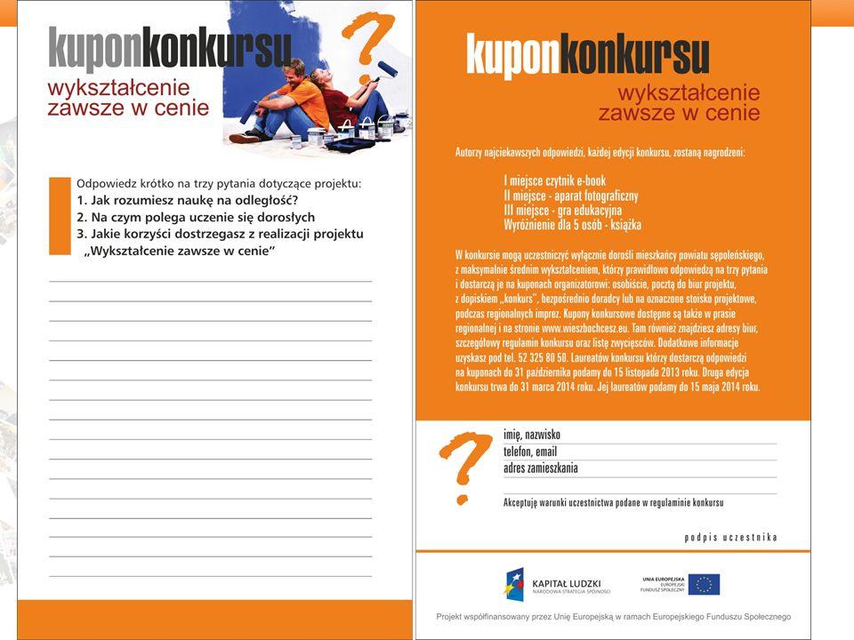 To nas wyróżnia: Stworzyliśmy proste formularze uczestnictwa kolportowane wraz - z broszurą informacyjną - testem wiedzy, którego wstępne wyniki zachęcają do bezpośredniego kontaktu z doradcą i kuponem konkursowym