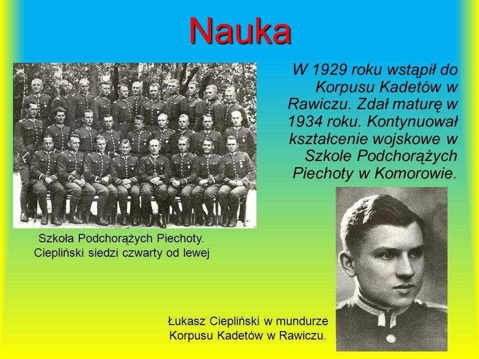 Służba w wojsku W listopadzie 1936 roku rozpoczął służbę w 62 Pułku Piechoty w Bydgoszczy.