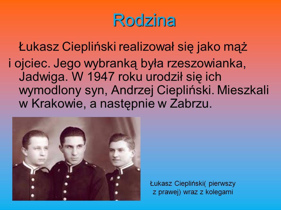 Rodzina Łukasz Ciepliński realizował się jako mąż i ojciec.