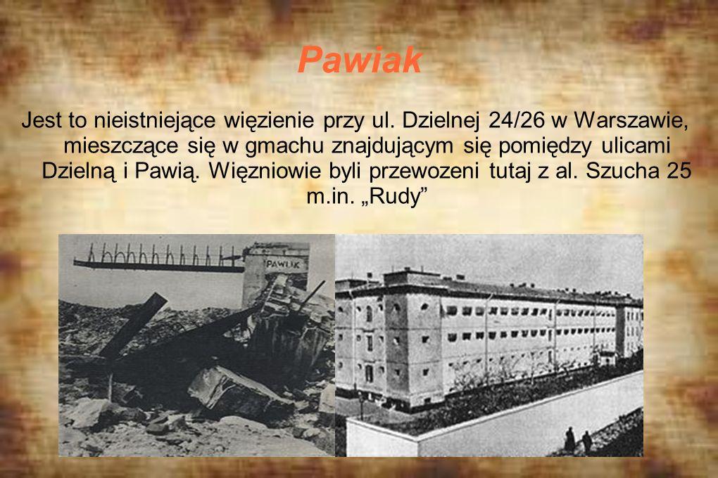 Pawiak Jest to nieistniejące więzienie przy ul. Dzielnej 24/26 w Warszawie, mieszczące się w gmachu znajdującym się pomiędzy ulicami Dzielną i Pawią.