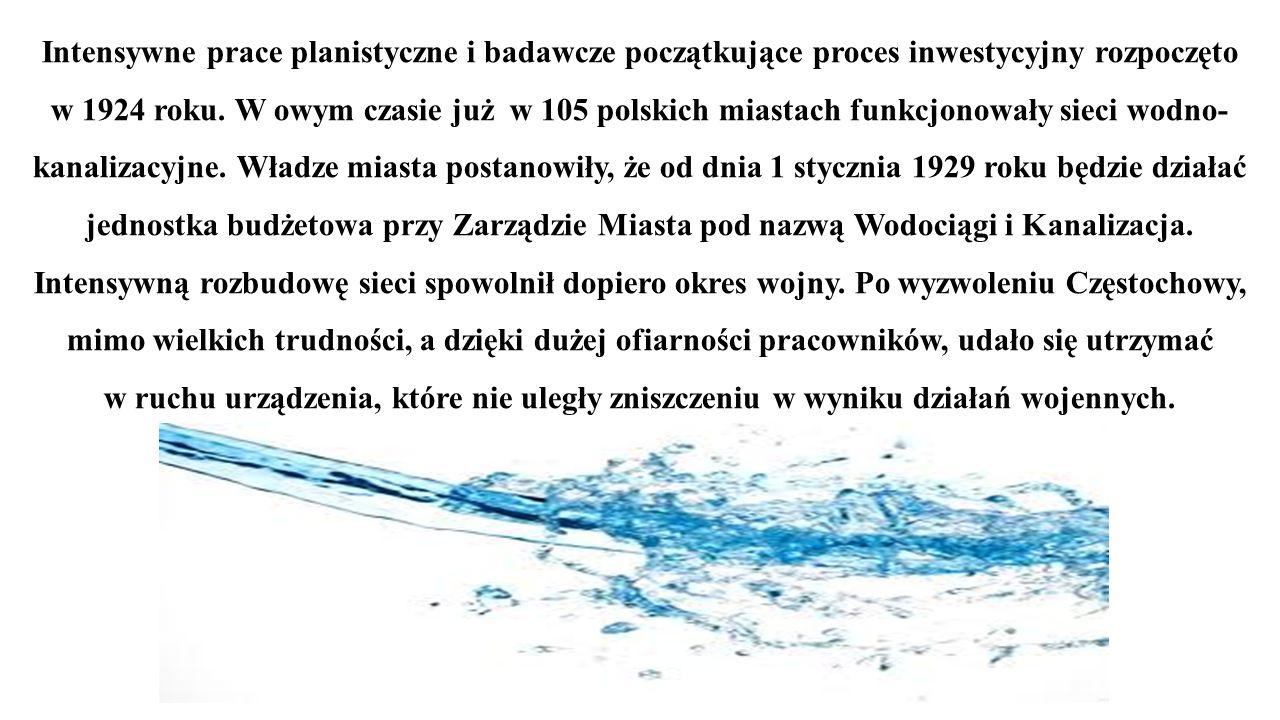 Intensywne prace planistyczne i badawcze początkujące proces inwestycyjny rozpoczęto w 1924 roku.