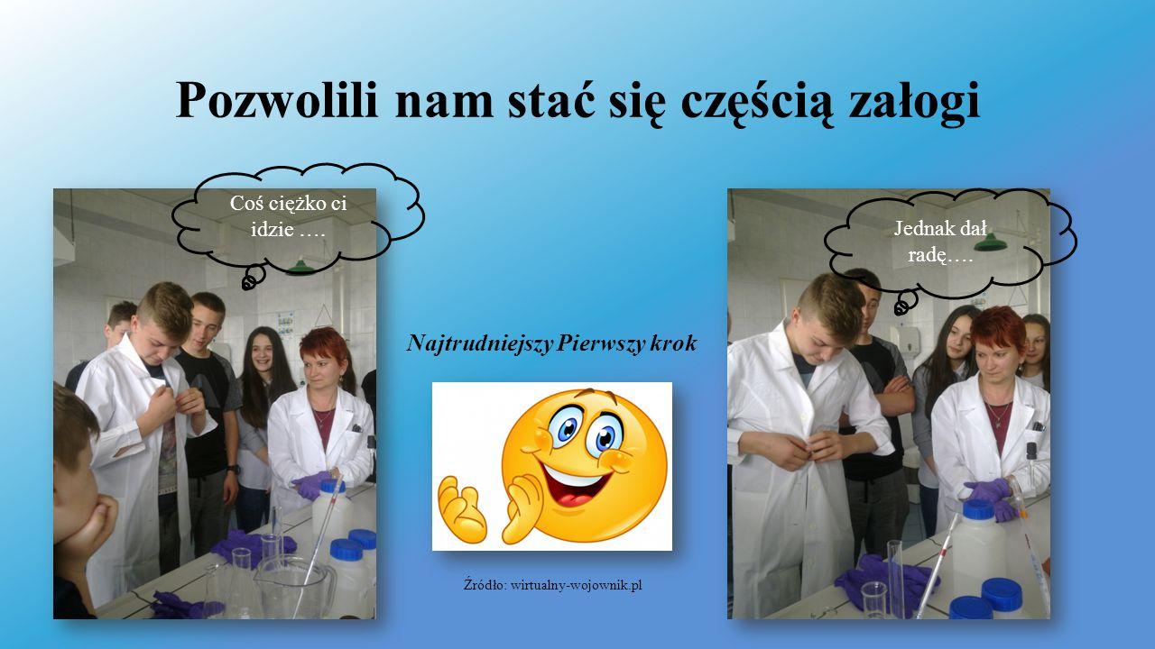 Pozwolili nam stać się częścią załogi Źródło: wirtualny-wojownik.pl Coś ciężko ci idzie ….