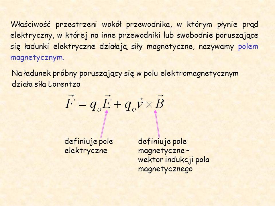 Ze związku możemy określić wartość wektora indukcji w danym punkcie pola.