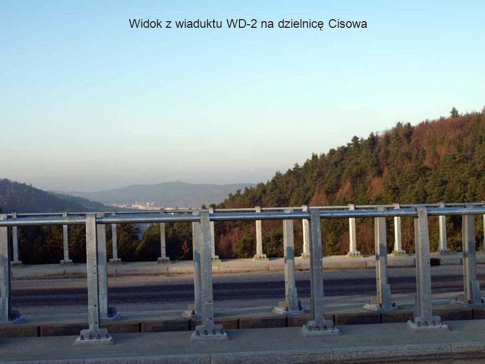 Widok z kładki łukowej na wiadukt WD-2