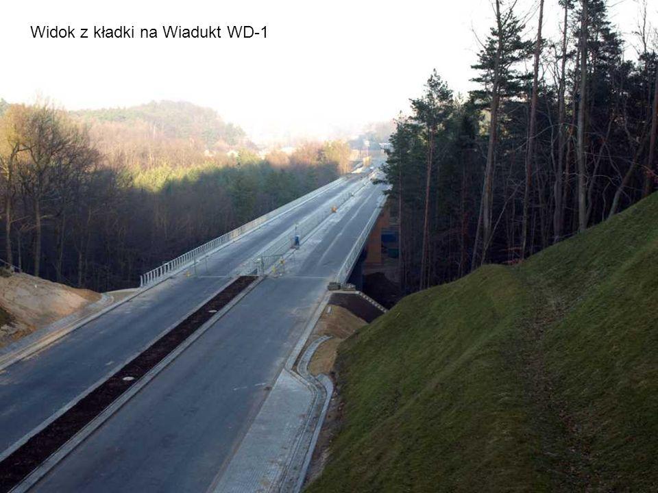Widok z kładki na Wiadukt WD-1