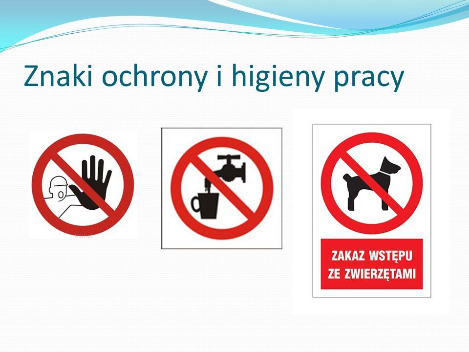Znaki ochrony i higieny pracy