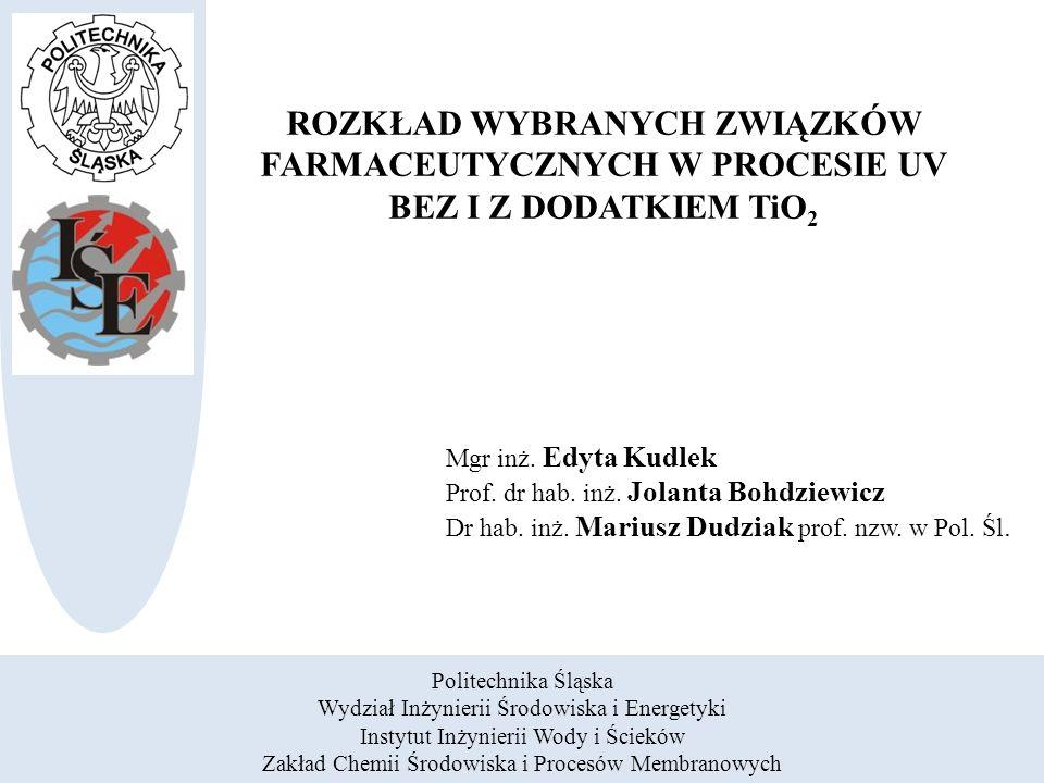 Związki farmaceutyczne w środowisku Doczyszczanie ścieków